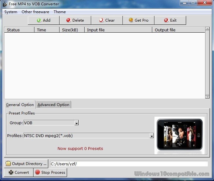 Free MP4 to VOB Converter 2 0 2 Free download